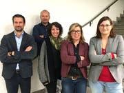 Die Schulbehörde mit Martin Reinhard, Manuel Humbel, Nouria Jarjour, Präsidentin Renata Franciello und Bernadette Greminger (neu). (Bild: PD)