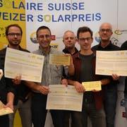 Das Team der Dransfeldarchitekten freut sich über den Erfolg und die vielen Preise: Erkan Gönc, Andreas Moosbuchner, Peter Dransfeld, Johannes Vogel, Alexander Koch, Florian Brune und Alessandro Zanetti. (Bild: PD)