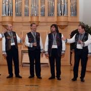 Das Orpheus Vokalensemble aus der Ukraine wurde vom Publikum mit stehenden Ovationen gefeiert. (Bild: Peter Jenni)