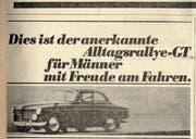 Volvo-Inserat erschienen am 6. September 1968. (Bild: PD)