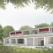 Das Siegerprojekt «Baloo» sieht einen Neubau zwischen der Schul- und der Urbanstrasse vor. (Bilder: PD / Allemann Bauer Eigenmann Architekten AG)