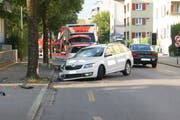Die Unfallstelle in der Stadt Zug (Bild: Zuger Polizei)
