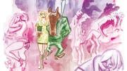 Auch Wölfe und Vampire gehen in den Nachtclub, zumindest in Joann Sfars Comicband «Aspirine». (Bild: Avant-Verlag)