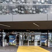 Der Eingangsbereich des Verkehrshauses. (Bild: Pius Amrein, Luzern, 15. Januar 2019)