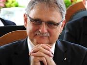 Hatte am Freitag seinen letzten Auftritt im Obwaldner Kantonsrat: Bildungsdirektor Franz Enderli. (Bild Markus von Rotz, Sarnen, 19. Juni 2015)