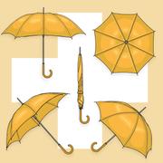 Die Zuger Schirmfabrik bestand von 1848 bis in die 1970er-Jahre. (Grafik: Oliver Marx)