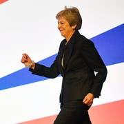 Englands Premierministerin Theresa May. (Bild: Neil Hall/EPA (Birmingham, 3. Oktober 2018))