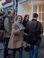 «Wir sind ganz erschlagen», sagt Jana Jakoubek, künstlerische Leiterin des Fumetto-Festivals. Hier vor der Galerie F5.