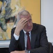 Der Chef der Helvetia-Versicherungen, Philipp Gmür, äusserte sich an der Bilanzmedienkonferenz auch über die Affäre Pierin Vincenz. (Bild: Keystone)