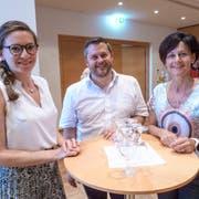 Die Initianten für einen Aadorfer Coworking Space: Nadja Sternik, Roland von Bülow und Cornelia Hasler. (Bild: Kurt Lichtensteiger)