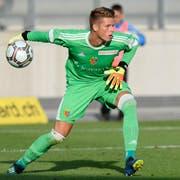 Jonas Omlin fehlt gegen den FCL wegen einer Verletzung. (Bild: Anthony Anex/Keystone (Biel, 10. Juli 2018))