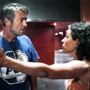 Stefan Gubser und Delia Mayer im KKL-»Tatort» als Kommissare Flückiger und Ritschard. (Bild: SRF)