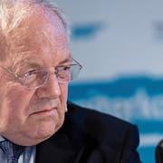 Der Druck wurde zu gross: Johann Schneider-Ammann und Ignazio Cassis und ihre Bundesratskollegen mussten zurückkrebsen. (Bild: Georgios Kefalas/Keystone (Pratteln, 29. September 2018))