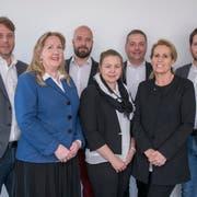 Der Vorstand des Vereins Liechtenstein Werdenberg: Simon Stauffacher, Rosmarie Lutziger, Carl Batliner, Cornelia Fehr, Ivan Schurte, Silvia Abderhalden und Brian Haas (von links). (Bild: Albert Mennel)