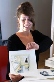 Carole Isler, Künstlerin. (Bild: Dieter Langhart)