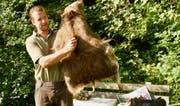 Wildhüter Silvan Eugster konnte viel zu wieder heimisch gewordenen Tierarten sagen.