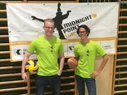 Sie leiten das Projekt «Midnight Point Uri» in Altdorf: Raphael Zanini (links) und Amadeo Dal Farra. (Bild: PD)