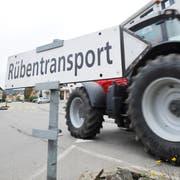 Durch Frauenfeld ist eigens eine Route für den Rübentransport ausgeschildert. (Bilder: Donato Caspari)