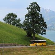 Ein Postauto auf der Strecke Giswil-Mörlialp. (Archivbild: Nadia Schärli)