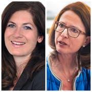 GLP-Präsidentin Nadine Niederhauser (links) und Ständeratskandidatin Susanne Vincenz-Stauffacher. (Bilder: PD/Urs Bucher)