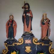 Im Inneren stehen die Figuren der Heiligen Johannes des Evangelisten, Jost und Katharina. (Bild: Andreas Faessler)