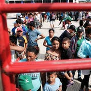 Migranten der Karawane erreichen ein Camp in Juchitan de Zaragoza in Mexiko. (Bild: Spencer Platt/Getty, 30. Oktober 2018)