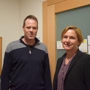 Der 44-jährige Familienvater Damian Loser ersetzt Nicole Haag in der Hüttwiler Primarschulbehörde. (Bild: Evi Biedermann)