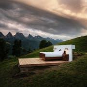 Eine der drei Toggenburger Suiten ohne Dach und Wände. (Bild: pd)