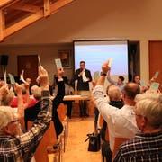 Deutliches Ja für die positive Jahresrechnung in Hüttwilen. (Bild: Claudia Koch)