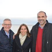 Die Kandidaten der SVP: Walter Scherrer (Rechnungsprüfungskommission), Melanie Zellweger und Dominik Reis (beide Stadtrat). (Bild: PD)