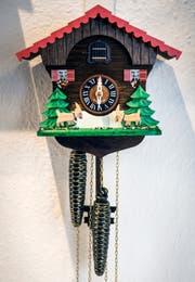Eine der in Kreuzlingen gefertigten Kuckucksuhren. (Bild: Reto Martin)