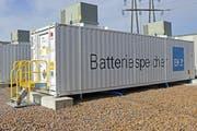 Ein solcher Container mit einem Lithium-Ionen-Akku könnte bald in Steinach stehen. (Bild: zVg/EKZ)