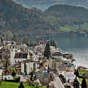 Blick über die Gemeinde Vitznau. (Bild: Pius Amrein, 7. April 2014)