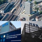 Die Fachhochschulen St.Gallen, Buchs und Rapperswil.