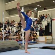 Valentina Kaufmann (Getu Gams) hatte am Boden etwas Mühe, dennoch reichte es zur Bronzemedaille. (Bild: Ursina Marti)