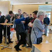 Jubel bei der Bekanntgabe: Anna Rink von der Freien Liste freut sich über die gewonnen Sitze. (Bild: Nicole D'Orazio)