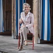 Ständeratskandidatin Andrea Gmür in der Luzerner Seebadi. Hier ist die Politikerin im Sommer öfters anzutreffen. (Bild: Pius Amrein, 20. September 2019)
