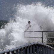 Erste Zeichen des Hurrikans in Ponce Inlet, Florida. (Bild: Joe Burbank/Orlando Sentinel via AP)