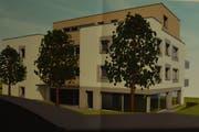 Visualisierung der geplanten Überbauung. (Bild: Markus Schoch)