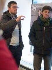 Martin Panchaud (links) und Benedikt Notter, Gewinner von Comicstipendien 2018.