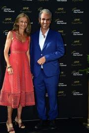 Zu Gast in der alten Heimat. Marcello Foa besucht mit seiner Frau das Filmfestival Locarno. (Bild: Pier Marco Tacca/Getty Images (Locarno, 9. August 2019))