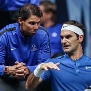 Traum-Doppel Nadal/Federer geplatzt: Der Spanier ist verletzt (Bild: Keystone).