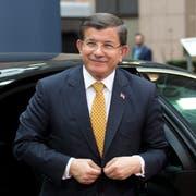 Der frühere türkische Ministerpräsident Ahmet Davutoglu. (Bild: Geoffroy Van der Hasselt/AP)