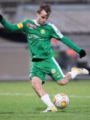 Nico Abegglen erzielte am Mittwochabend für den SC Brühl gegen Rapperswil-Jona das Tor zum 1:1. (Bild: Urs Bucher - 19. November 2017)