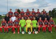 Das FC Bazenheid-Team hat einen Neuaufbau hinter sich. Jetzt müssen sich die Spieler neu finden. (Bild: Beat Lanzendorfer)