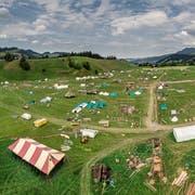 Auf diesem Gelände in Escholzmatt werden in den nächsten Wochen über 2000 Pfader das Lagerleben geniessen.