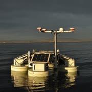 Der «Hydrocrawler» von Forschern des Fraunhofer Instituts für Biomedizinische Technik hat anfangs November den Bodenseegrund um einen der Hügel hochauflösend vermessen. (Bild: PD/ Amt für Archäologie Kanton Thurgau)