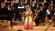 Wenquing Lian, Sängerin der Peking Oper, bei ihrem Auftritt im KKL. (Bild: Jakob Ineichen (KKL Luzern, 27. Januar 2019))