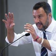 Lega-Chef und Innenminister Matteo Salvini. (Bild: Maurizio Brambatt/EPA, Rom, 6. August 2019)