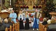 Beriska: zwei Musikerinnen und zwei Musiker aus der Ukraine in Tobel. (Bild: Christoph Heer)